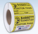 Roll Labels Visitor Labels Visitor Passes